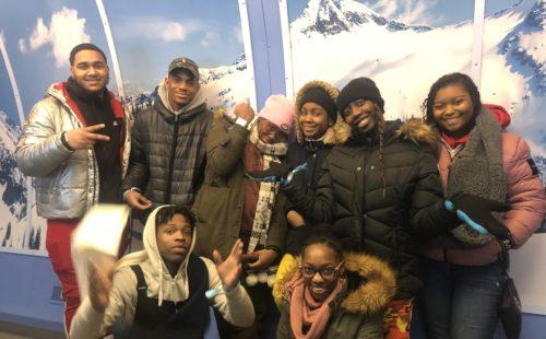 Newark Seniors Hit the Slopes for Final Class Trip